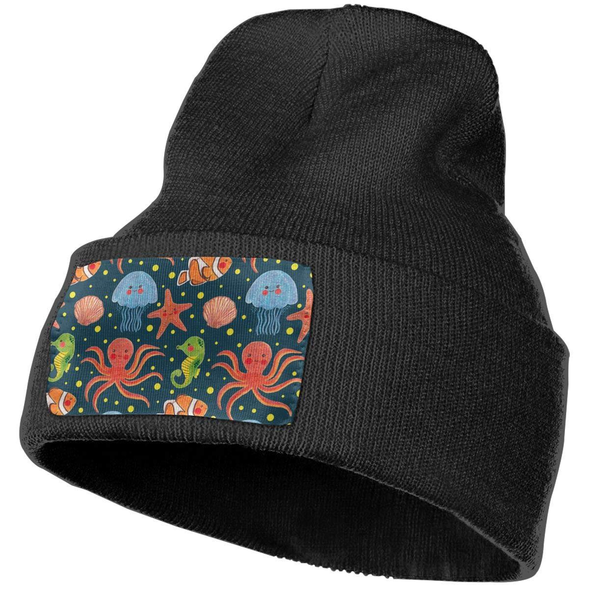 Field Rain Jellyfish Unisex 100/% Acrylic Knit Hat Cap Rider Soft Beanie Hat Woolen Hat
