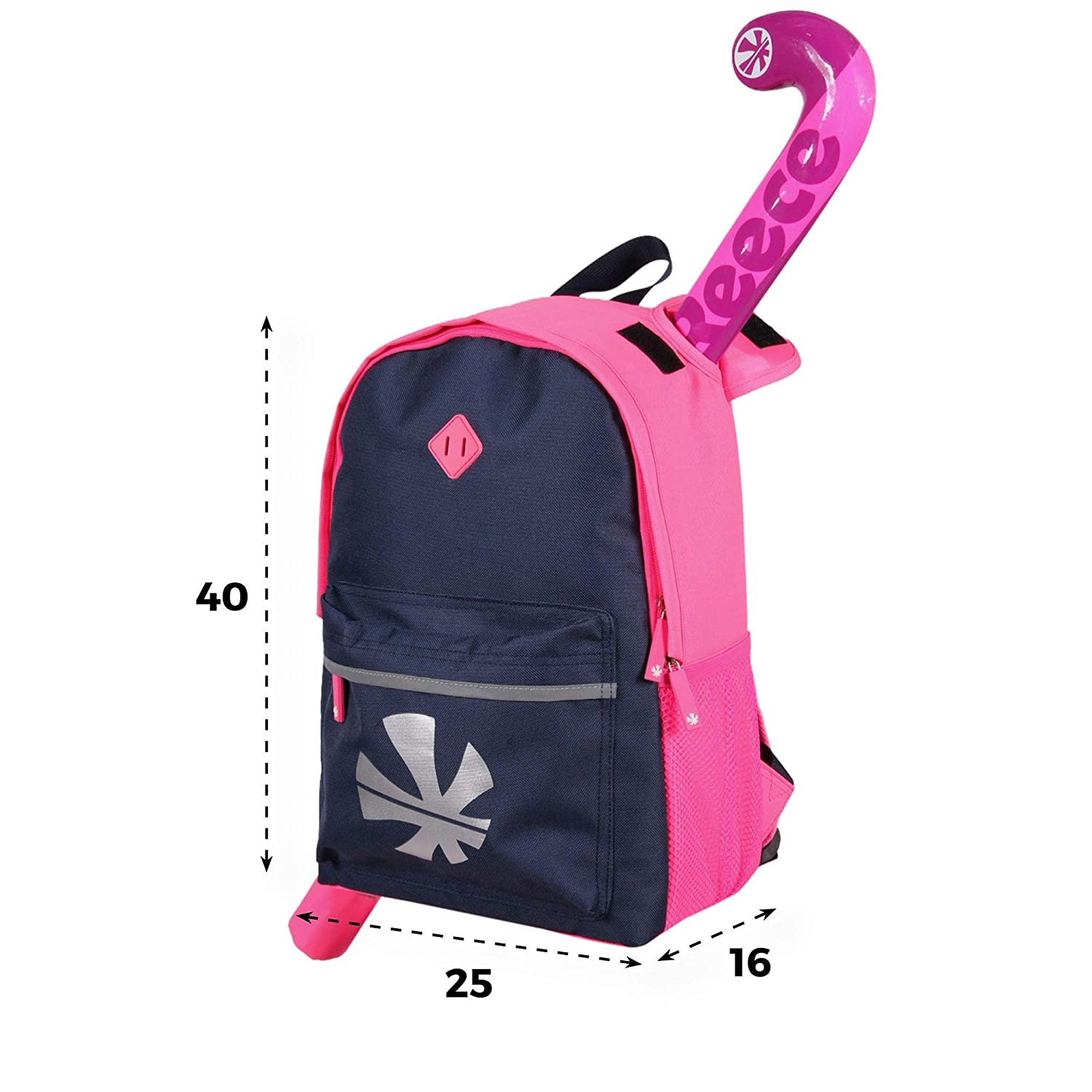 Sports Innovation Reece Cowell Hockey Stick Backpack Rucksack - Pink/Navy