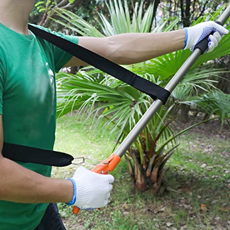 Finether telescopic long reach aluminum cut hold pole tree finether telescopic long reach aluminum cut hold pole tree pruner and saw branch trimmer with bypass pruner saw blade guide rod shoulder strap work gloves greentooth Gallery