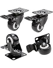 Herenear 50mm Ruedas Pivotantes ruedas giratorias para Muebles con Carga Mayor de 400Kg Set de 4