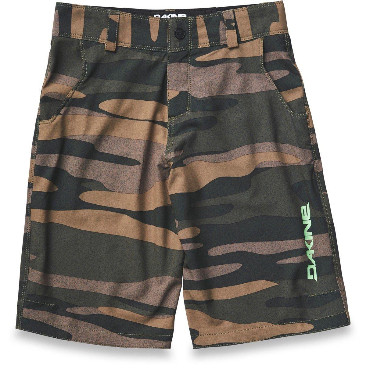 Dakine Kid's Pace Bike Shorts, Field Camo, 8