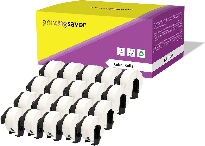 10x DK-22214 12 mm x 30,48m Compatibles /Étiquettes Continues pour Brother P-Touch QL-1050 QL-1060N QL-1110NWB QL-1100 QL-500 QL-500BW QL-560VP QL-570 QL-580 QL-700 QL-710W QL-800 QL-810W QL-820NWB