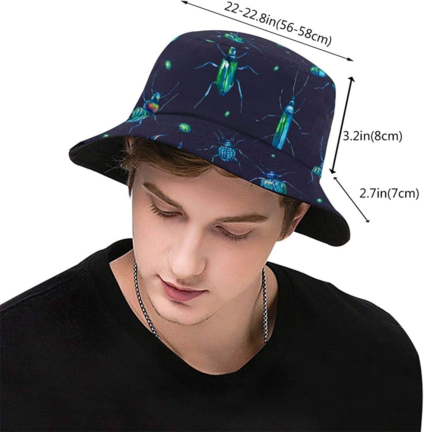GSUYMMNG Flatbush Zombies Bucket Hat Unisex Sun Hat Printed Fisherman Packable Travel Hat Fashion Outdoor Hat