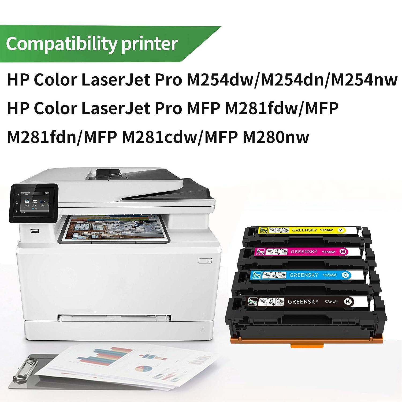 GREENSKY 4PK Compatible para HP CF540A 203A 203X CF541A CF540X ...