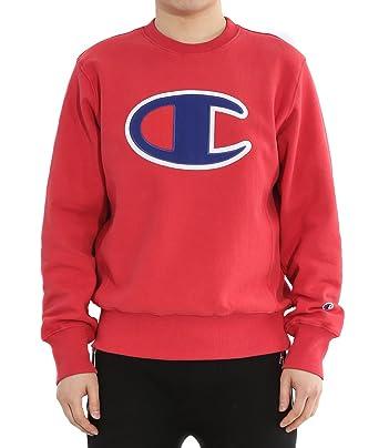 Wiberlux Champion Men's Big Logo Patch Sweatshirt M Red at Amazon ...