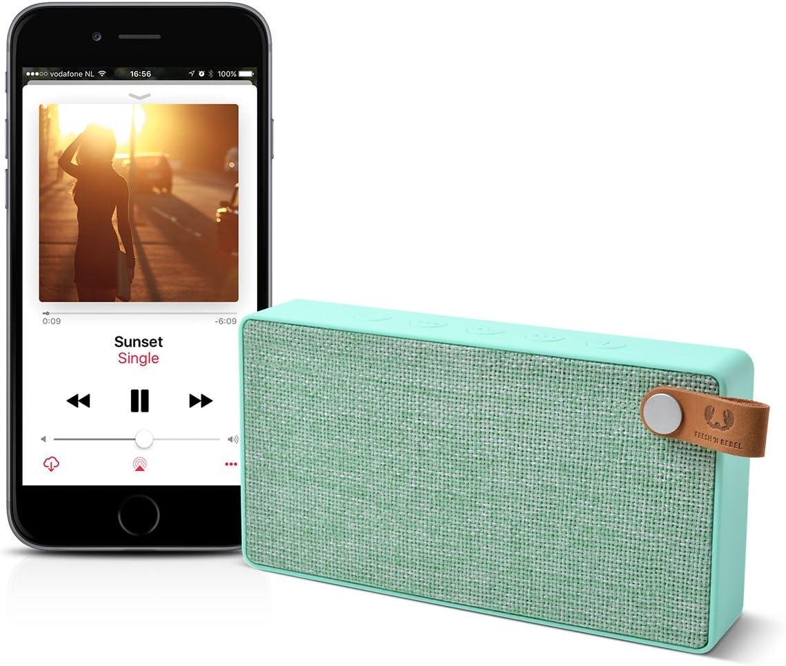 Fresh N Rebel Rockbox Slice Fabriq Edition Peppermint Kabelloser Bluetooth Lautsprecher Audio Hifi
