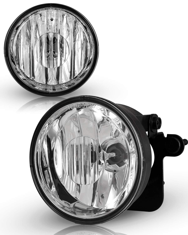 a pair AUTOWIKI Fog lights for 2004-2006 Chevrolet Suburban 1500 Z71,2000,2003-2006 Tahoe Z71,1997-2003 Pontiac Grand Prix,2000-2005 Pontiac Sunfire OE style 16530218,DOT//SAE Lamp-Clear Lens