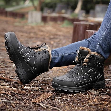 boots 2018 Invernali più Velluto Scarpe da Uomo in Cotone