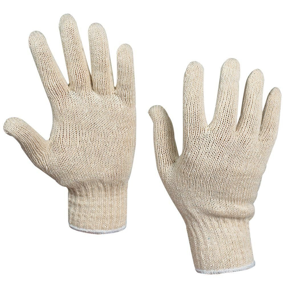 Small RetailSource GLV1010Sx1 String Knit Cotton Gloves Pack of 12