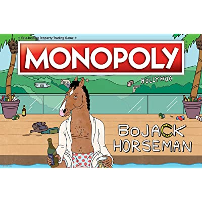 Monopoly BoJack Horseman Board Game | Recruit Your Favorite BoJack Horseman Characters in this version of Monopoly | Based on the BoJack Horseman Netflix Show | Custom Tokens, Money and Game Board: Toys & Games