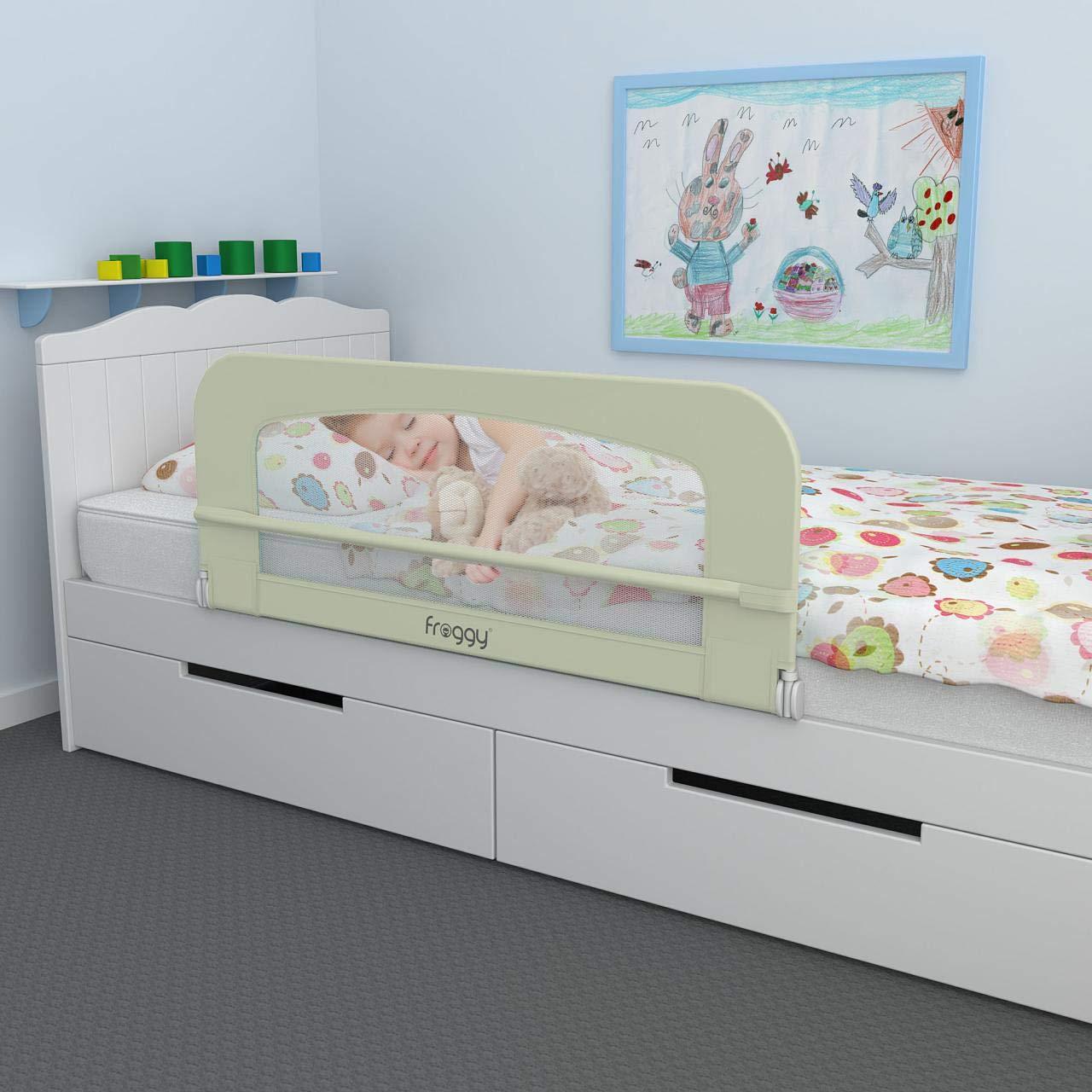 Bettgitter 100 cm Bettschutzgitter Kinderbettgitter Babybettgitter Gitter Kinderbett Fallschutz Bett Raspberry