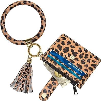 Bangle Keychains, SHANSHUI Women Wristlet Tassel Circle Key Ring with Card  Wallet at Amazon Women's Clothing store