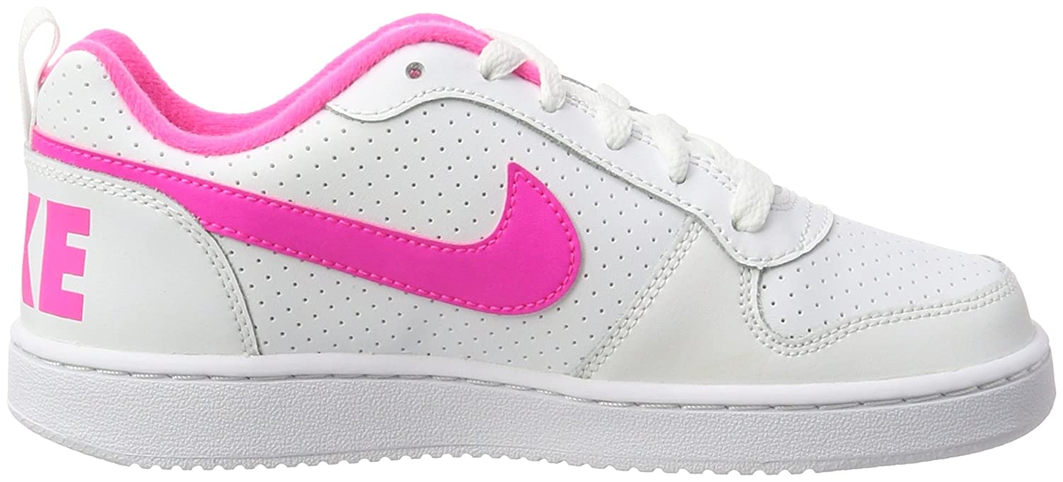 Nike Damen Court Borough Low (GS) Basketballschuhe, Weiß (White/Pink Blast 100), 38 EU