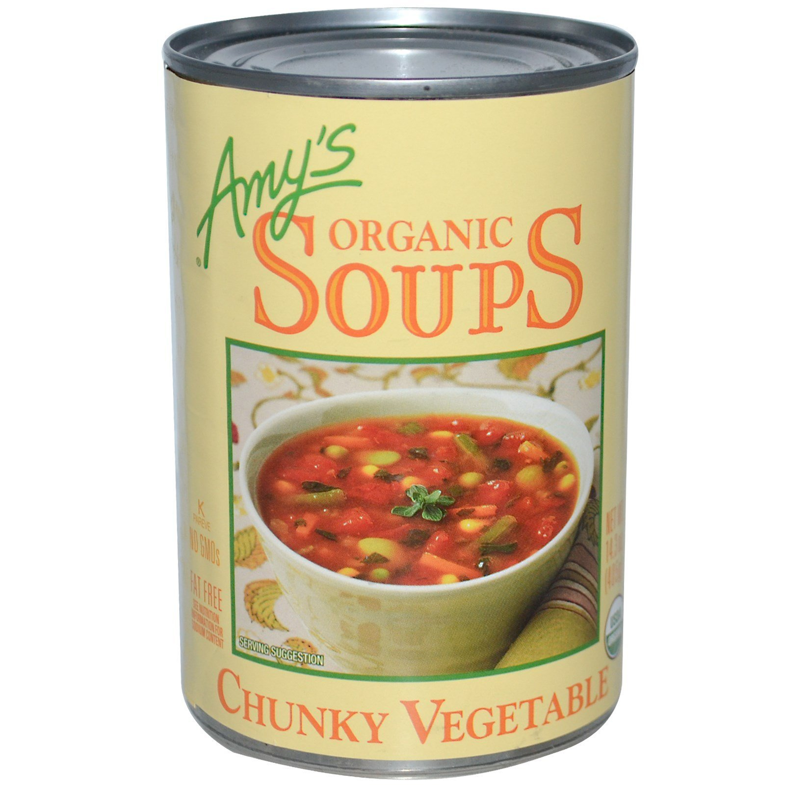 Amy's, Organic Soups, Chunky Vegetable, 14.3 oz (405 g)(Pack of 6)