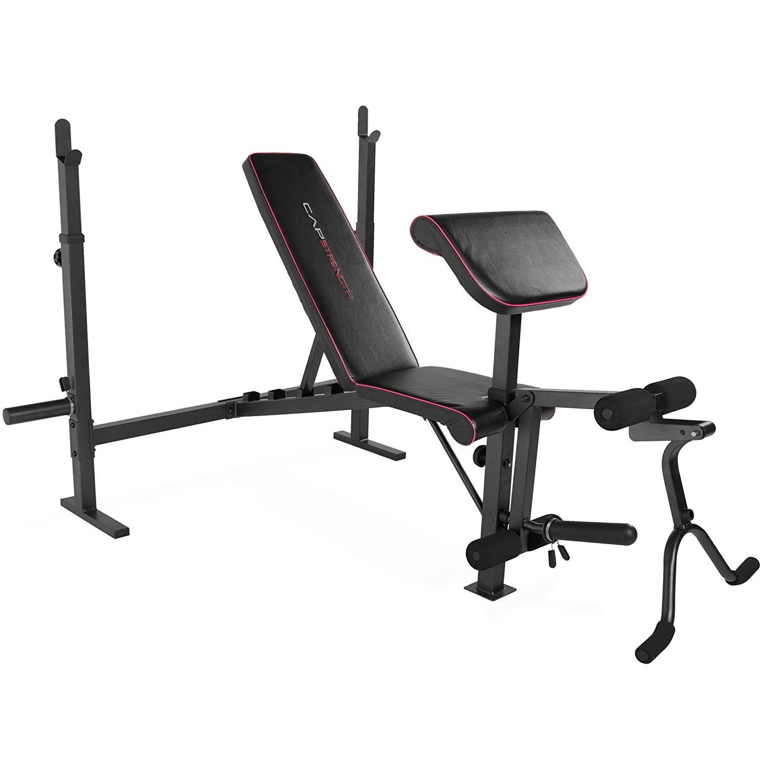 Cap Barbell Strength Olympic Weight Bench with Preacher Pad and Leg Attachment FM-CS7300