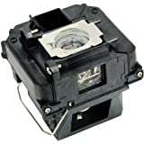 QueenYii ELPLP68 Compatible for EPSON PowerLite HC 3020 Replacement Projector Lamp with bulb inside