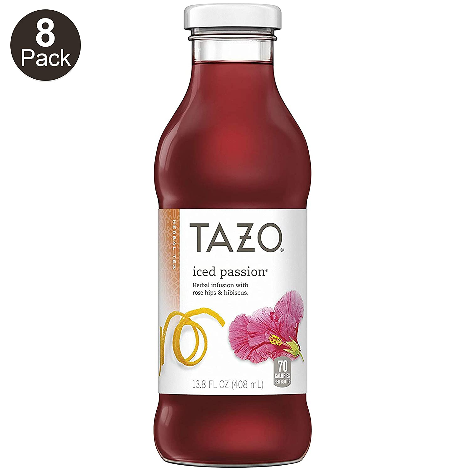 Tazo Passion Fruit Iced Tea 13 8 Ounce Glass Bottles 8 Count