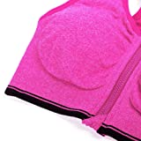 YEYELE Women Zip Front and Removable Pads Tank Top