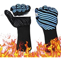 932℉ Extreme Heat Resistant BBQ Gloves, Food Grade Kitchen Oven Mitts - Flexible Oven Gloves with Cut Resistant…