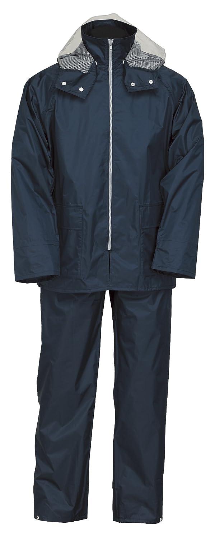 ナダレス スーツ 全6色 全6サイズ レインスーツ ネイビー EL 防水透湿 3層レイヤー 収納袋付き 9150 [正規代理店品] B018JREC1I EL|ネイビー ネイビー EL