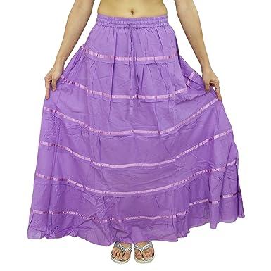 Wear Maxi Beach algodón falda larga de encaje de Boho del Hippie ...