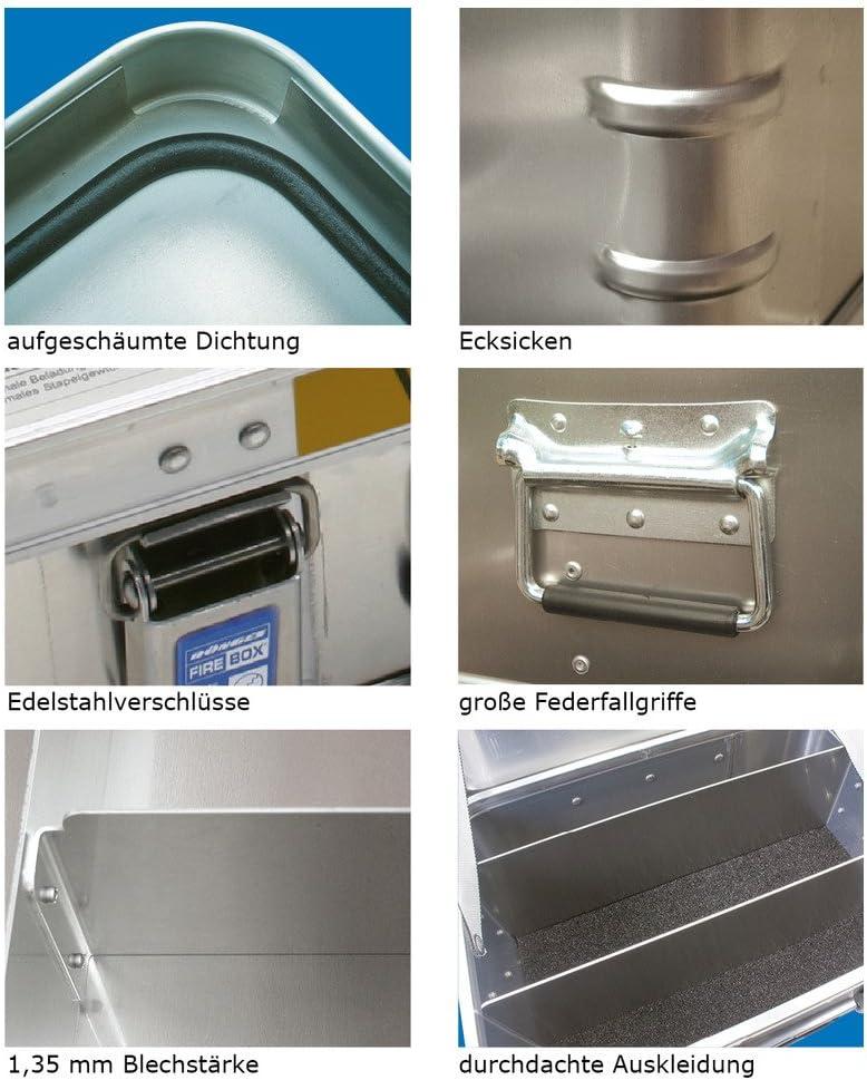 600 x 400 x 220 mm D/önges FireBox made by Zarges