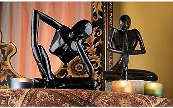 Amazon.com: Figura de escultura de Yogi balinés de hierro ...