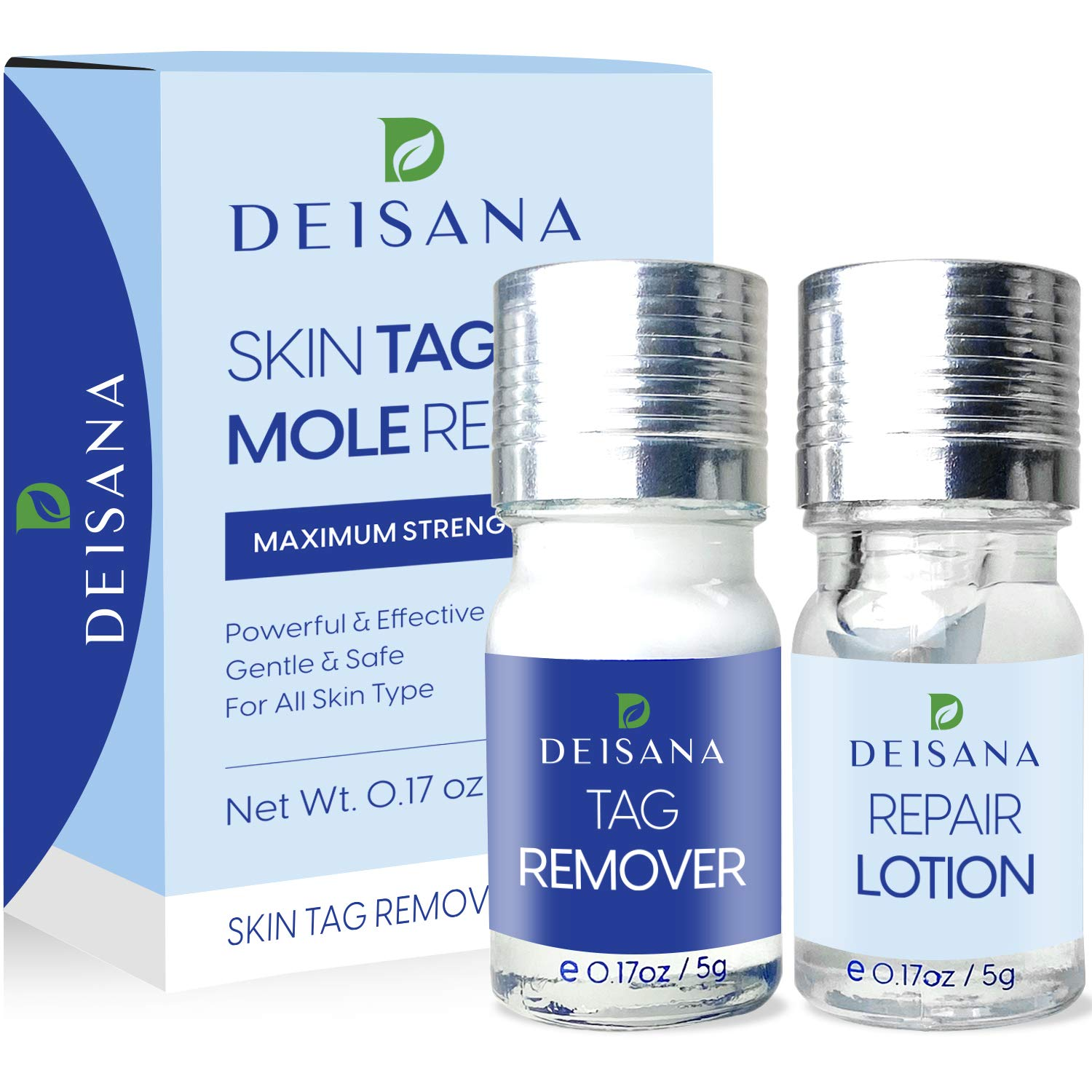 Skin Tag Remover, Mole Remover and Repair Gel Set, Skin Tag Removal Treatment, Mole Corrector, Easy at Home Use
