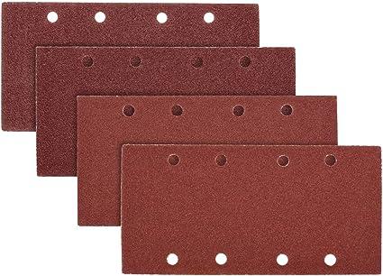 Hojas de lija 100 unidades, 140 x 90 mm, papel de lija 40//60//80//100//120//150//180//240//320//400, 10 unidades, para trabajos en madera, eliminaci/ón de /óxido, pulido