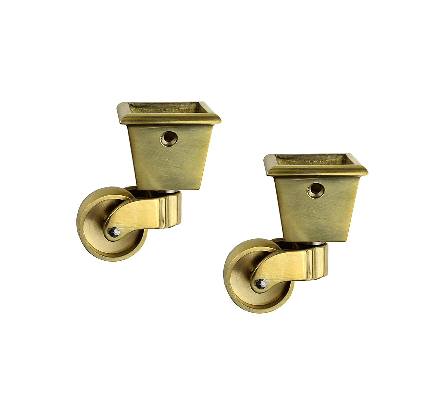 Ordinaire RZDEAL 2PCS Universal Caster 360 Degree Rotation Square Cup Brass Heavy  Wheel Hardware Movable For Trunk Box Furniture Cabinet Sofa Trolley Chairs  Bed: ...