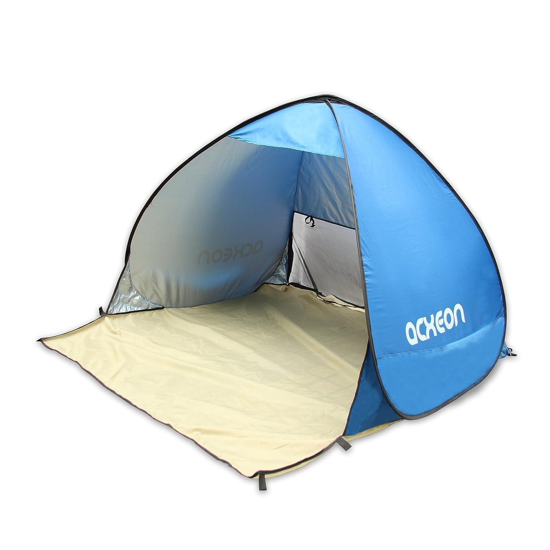 Coco Portable Outdoor Tente de plage instantanée, pop-up automatique de protection UV Cabana Sun Abris pour 2–3personnes