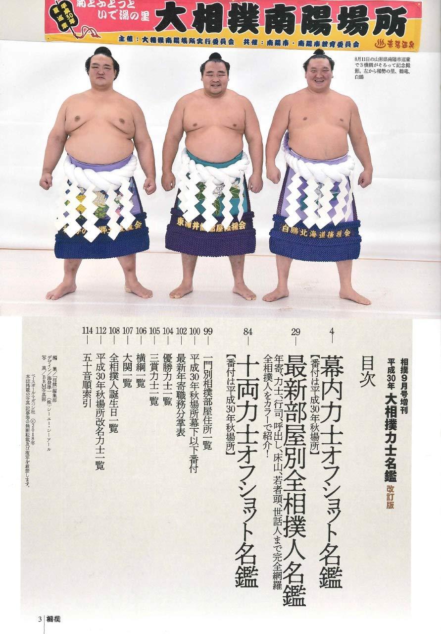 平成30年度 大相撲力士名鑑 【改...