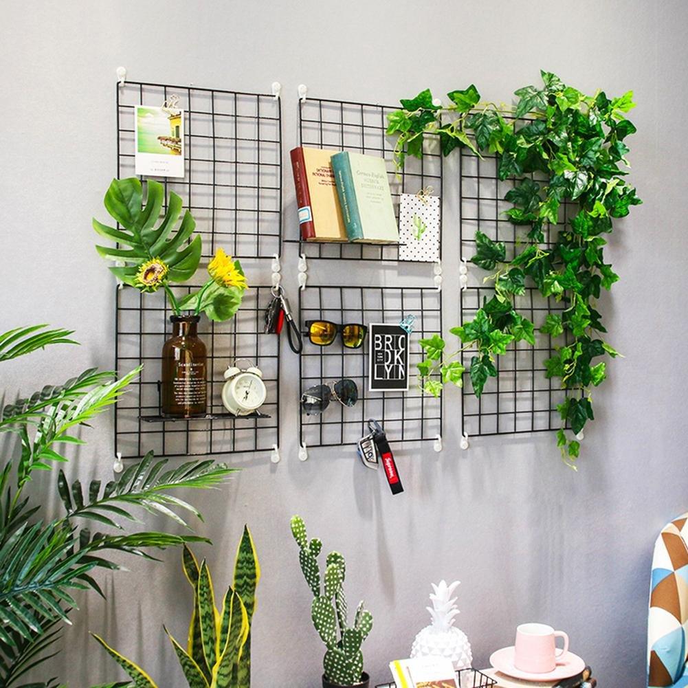 fai da te  35 x 35 cm nero Grata in ferro da parete decorativa multiuso per cucina ufficio pannello per appendere fotografie
