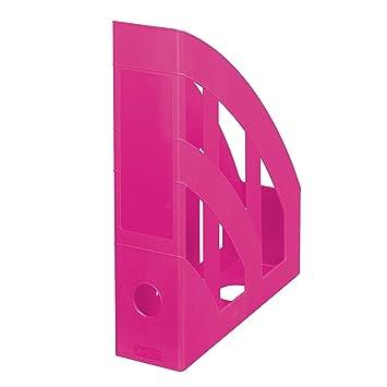 Herlitz Classic - Clasificador vertical, 4 unidades, A4-C4, color rosa: Amazon.es: Oficina y papelería
