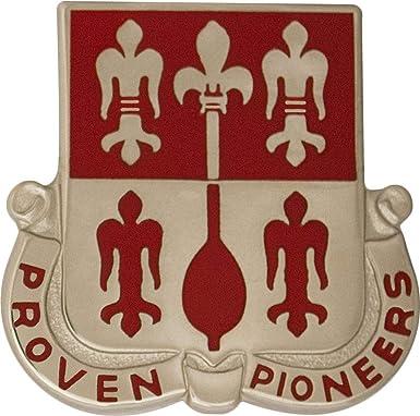 Amazon Com 299th Engineer Battalion Unit Crest Proven Pioneers Clothing
