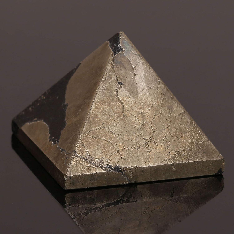 Pyrite Chakra Healing Crystal Pyramid Metaphysical Stone Figurine 25 MM