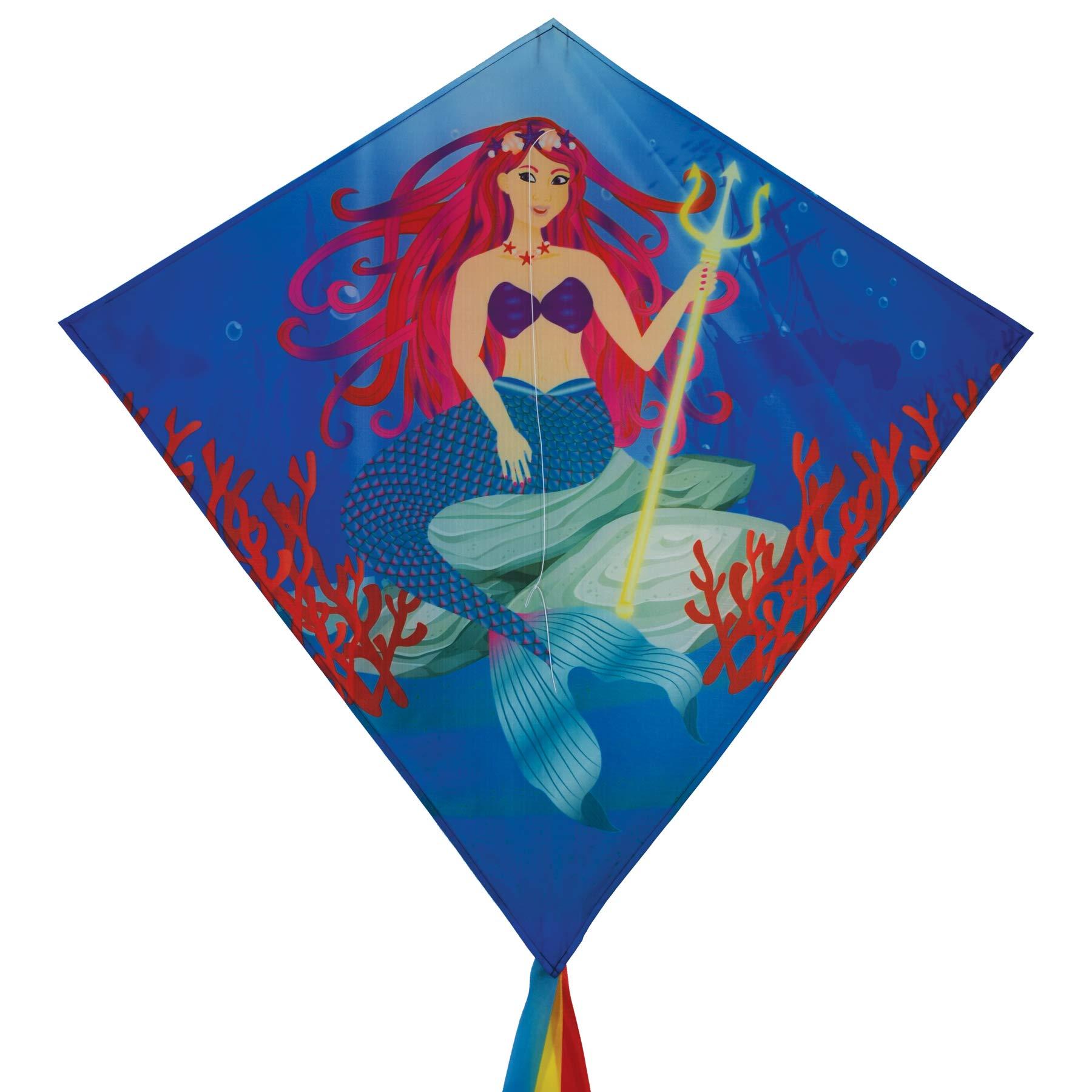 In the Breeze 3258 - Mermaid 30 Inch Diamond Kite - Fun, Easy Flying Mermaid Kite by In the Breeze