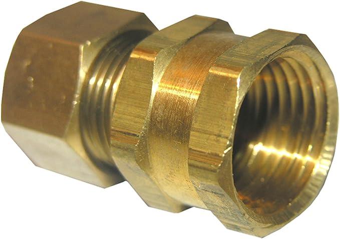 "10mm Compression x 1//2"" BSP Female AdaptorBrass Straight Plumbing Fitting"