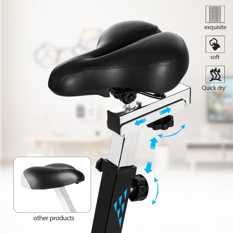 ANCHEER Indoor Cycling Bike, Belt Drive Indoor Exercise Bike with 49LBS Flywheel (Black) by ANCHEER (Image #6)