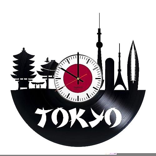 Amazon com: Japan Tokyo HANDMADE Vinyl Record Wall Clock – Perfect