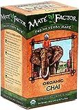 The Mate Factor Yerba Mate Energizing Herb Tea, Chai, 20 Tea Bags (Pack of 3)
