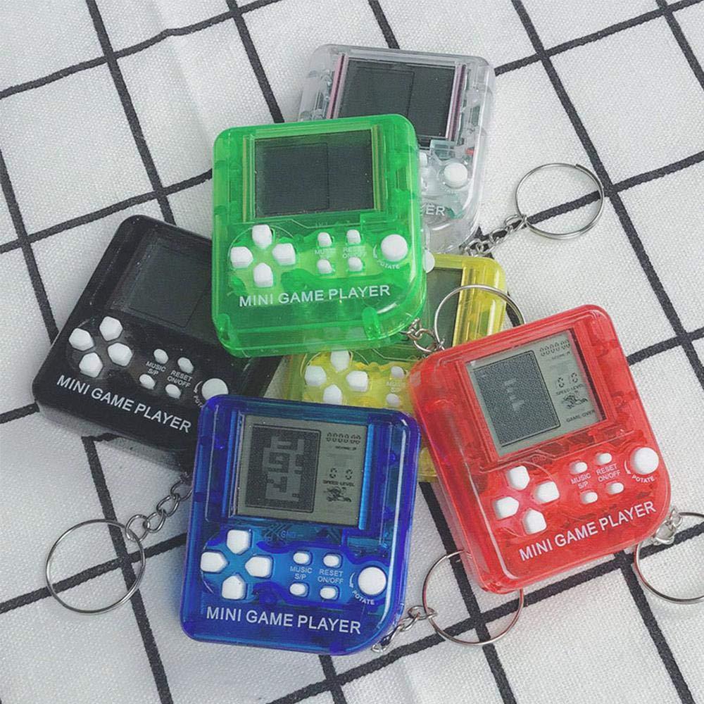 KOBWA Mini Llavero de Mano Consola de Juegos con 26 Juegos Integrados, portátil Mini Tetris Juego de Juguete relajación para niños Adultos, Color al ...