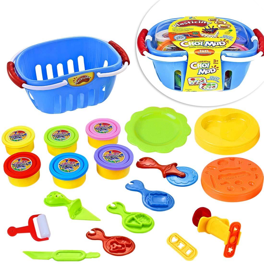 LISOPO 19pcs Pâte à Modeler Argile pour Les Enfants Emporte-pièces Moules Kit pour Argile Jouet créatif des Enfants Coupeurs de Biscuits pour Enfants (L) product image