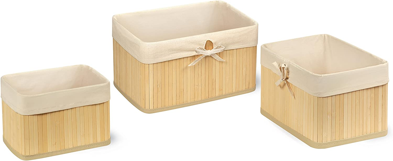 Claremont Bamboo Nesting Three Basket Gift Set