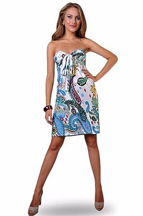 433398ae7d4a Womens Angela Bandeau Tube Knee Length Summer