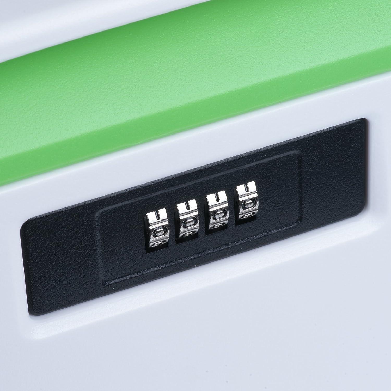 46 x 28 x 24.5 cm Green per casa o ufficio il calore e sostanze chimiche  contenitori sicuri resistente agli impatti Vinteky 32L scatole chiudibile e impilabile con lucchetto a combinazione a numero