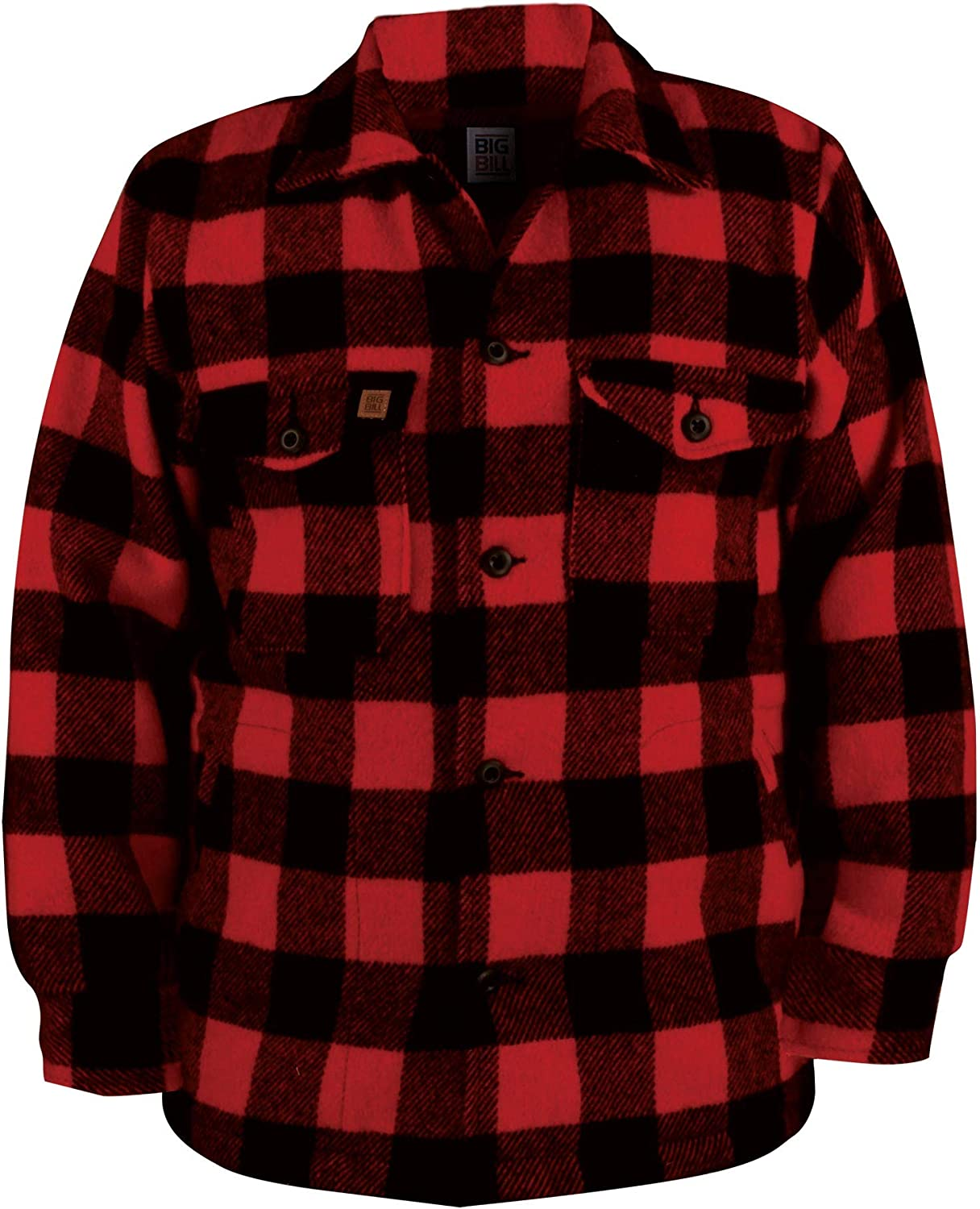 Regular Big and Tall Premium Wool Red Buffalo Coat for Outdoor, Hunting and Shooting Wear to 5X Made in Canada