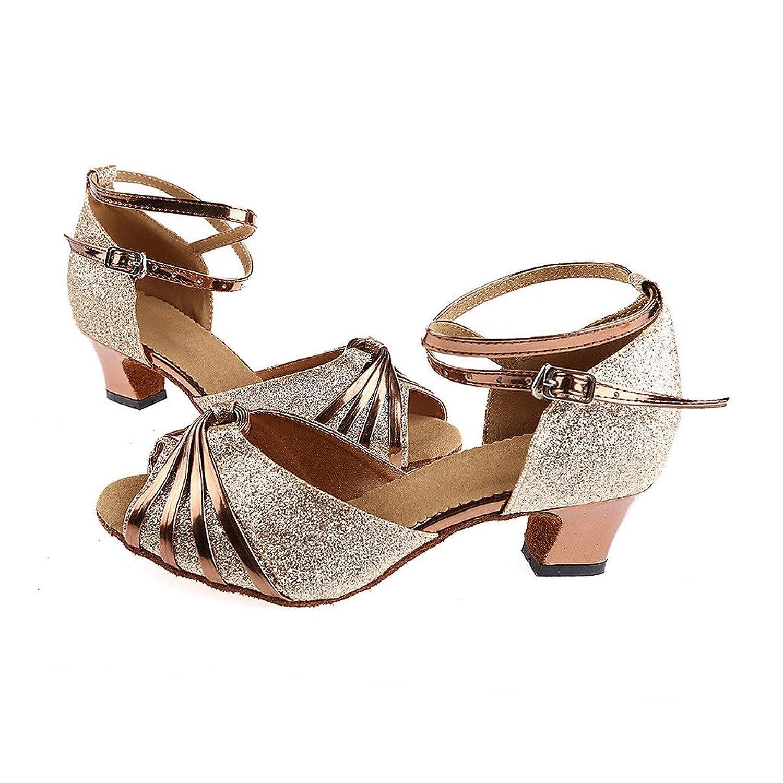 misu - Zapatillas de danza para mujer Dorado dorado, color Rojo, talla 36