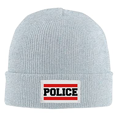 cb83d6b17c9 Zhu Bajie Winter Warm Wool Baggy Police Security Beanie Hat Skull Cap For  Mens Ash