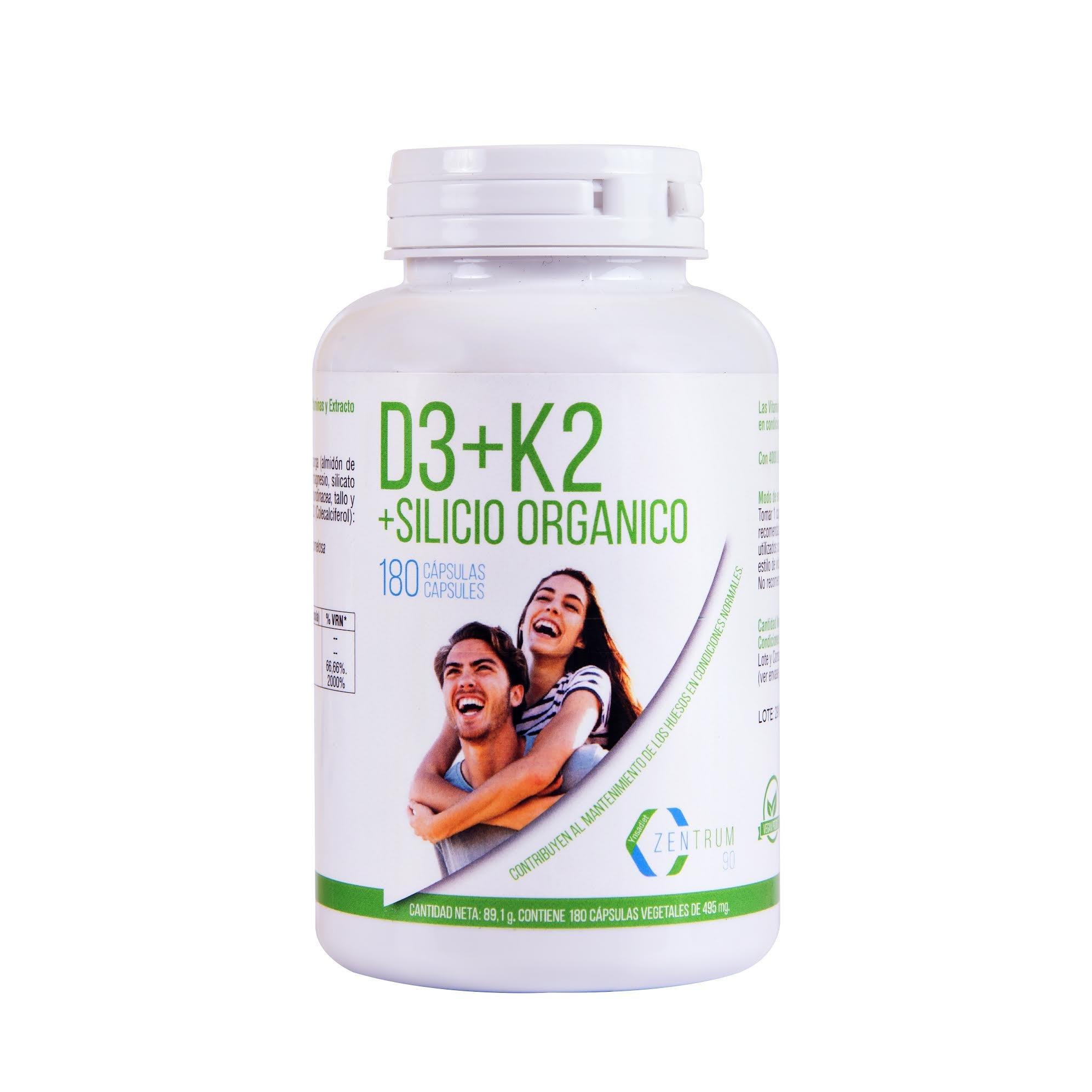 Vitamina D3, vitamina K2 y silicio orgánico para el mantenimiento de unos huesos fuertes –